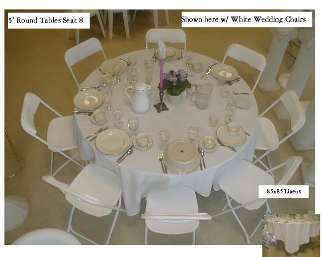 5 Foot Round Table Rentals Salem Or Where To Rent 5 Foot