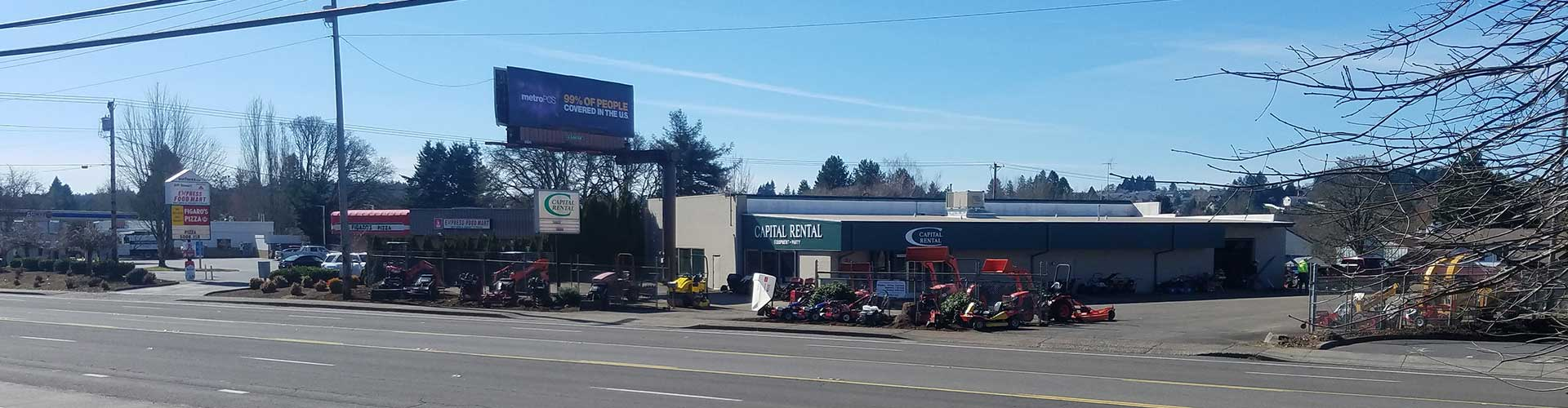 Equipment rentals in Salem Oregon, Albany, Corvallis, Keizer OR